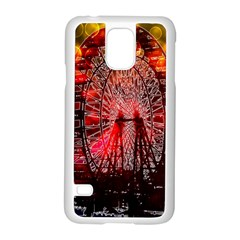 Vintage 1893 Chicago Worlds Fair Ferris Wheel Samsung Galaxy S5 Case (White)