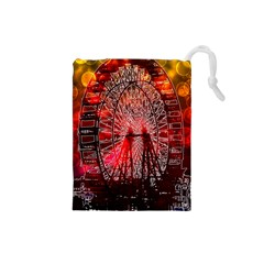 Vintage 1893 Chicago Worlds Fair Ferris Wheel Drawstring Pouch (Small)
