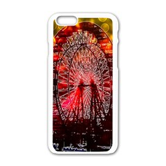 Vintage 1893 Chicago Worlds Fair Ferris Wheel Apple Iphone 6 White Enamel Case