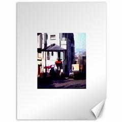Vintage Paris Cafe Canvas 36  X 48  (unframed)