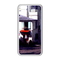 Vintage Paris Cafe Apple iPhone 5C Seamless Case (White)