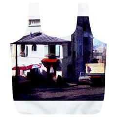 Vintage Paris Cafe Reusable Bag (XL)
