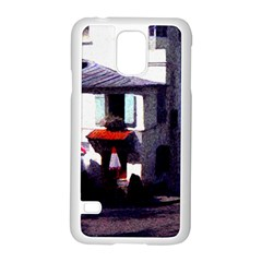 Vintage Paris Cafe Samsung Galaxy S5 Case (White)
