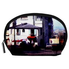 Vintage Paris Cafe Accessory Pouch (Large)