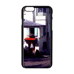Vintage Paris Cafe Apple iPhone 6 Black Enamel Case