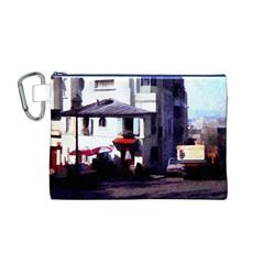 Vintage Paris Cafe Canvas Cosmetic Bag (Medium)