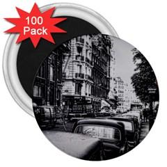 Vintage Paris Street 3  Button Magnet (100 Pack)