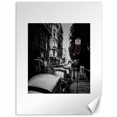 Vintage Paris Street Canvas 36  x 48  (Unframed)