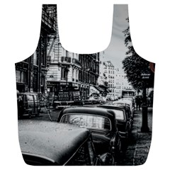 Vintage Paris Street Reusable Bag (XL)