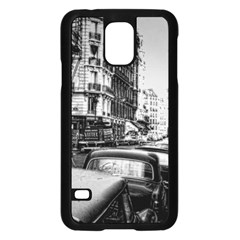 Vintage Paris Street Samsung Galaxy S5 Case (Black)