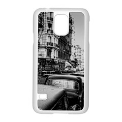 Vintage Paris Street Samsung Galaxy S5 Case (white)