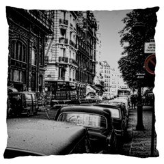 Vintage Paris Street Large Flano Cushion Case (One Side)