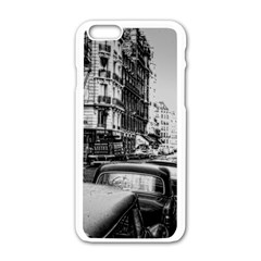 Vintage Paris Street Apple iPhone 6 White Enamel Case