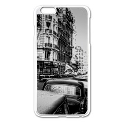 Vintage Paris Street Apple iPhone 6 Plus Enamel White Case