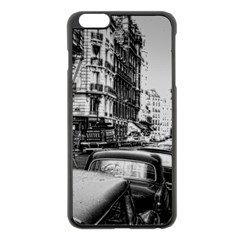 Vintage Paris Street Apple Iphone 6 Plus Black Enamel Case