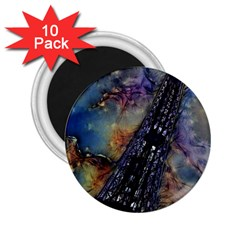 Vintage Eiffel Tower Abstract 2 25  Button Magnet (10 Pack)