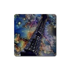 Vintage Eiffel Tower Abstract Magnet (square)