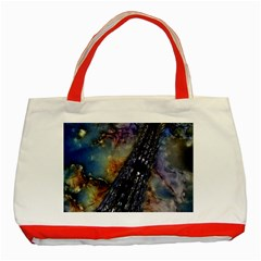 Vintage Eiffel Tower Abstract Classic Tote Bag (Red)