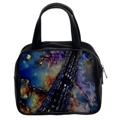 Vintage Eiffel Tower Abstract Classic Handbag (two Sides)
