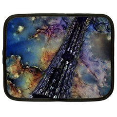 Vintage Eiffel Tower Abstract Netbook Sleeve (xxl)