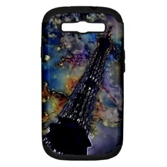 Vintage Eiffel Tower Abstract Samsung Galaxy S Iii Hardshell Case (pc+silicone)