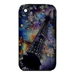 Vintage Eiffel Tower Abstract Apple Iphone 3g/3gs Hardshell Case (pc+silicone)