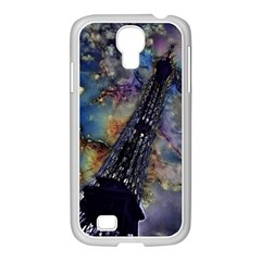 Vintage Eiffel Tower Abstract Samsung GALAXY S4 I9500/ I9505 Case (White)