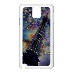 Vintage Eiffel Tower Abstract Samsung Galaxy Note 3 N9005 Case (White)