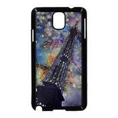 Vintage Eiffel Tower Abstract Samsung Galaxy Note 3 Neo Hardshell Case (Black)