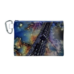 Vintage Eiffel Tower Abstract Canvas Cosmetic Bag (Medium)