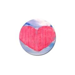 Pop Art Style Love Concept Golf Ball Marker