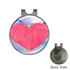 Pop Art Style Love Concept Hat Clip With Golf Ball Marker
