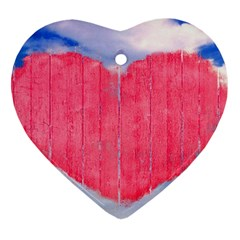 Pop Art Style Love Concept Heart Ornament (two Sides)