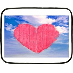 Pop Art Style Love Concept Mini Fleece Blanket (two Sided)