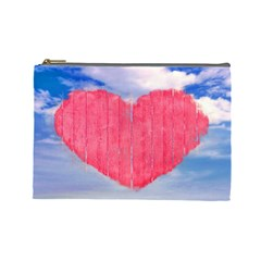 Pop Art Style Love Concept Cosmetic Bag (large)