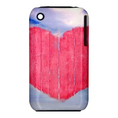 Pop Art Style Love Concept Apple iPhone 3G/3GS Hardshell Case (PC+Silicone)