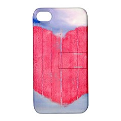 Pop Art Style Love Concept Apple Iphone 4/4s Hardshell Case With Stand