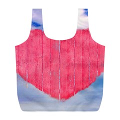 Pop Art Style Love Concept Reusable Bag (L)