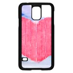 Pop Art Style Love Concept Samsung Galaxy S5 Case (Black) Front