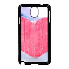 Pop Art Style Love Concept Samsung Galaxy Note 3 Neo Hardshell Case (Black)