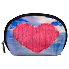 Pop Art Style Love Concept Accessory Pouch (Large)