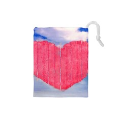 Pop Art Style Love Concept Drawstring Pouch (small)