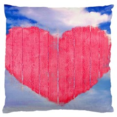 Pop Art Style Love Concept Large Flano Cushion Case (One Side)