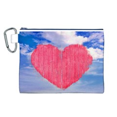 Pop Art Style Love Concept Canvas Cosmetic Bag (Large)