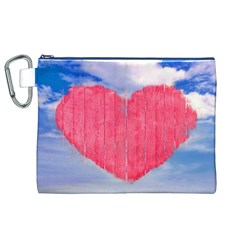 Pop Art Style Love Concept Canvas Cosmetic Bag (XL)