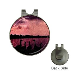 7 Geese At Sunset Hat Clip With Golf Ball Marker