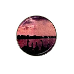7 Geese At Sunset Golf Ball Marker (for Hat Clip)