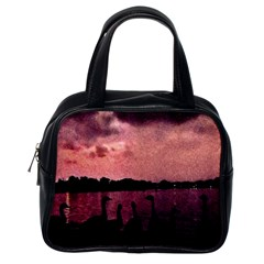 7 Geese At Sunset Classic Handbag (one Side)