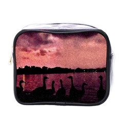 7 Geese At Sunset Mini Travel Toiletry Bag (one Side)