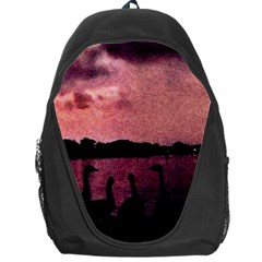 7 Geese At Sunset Backpack Bag
